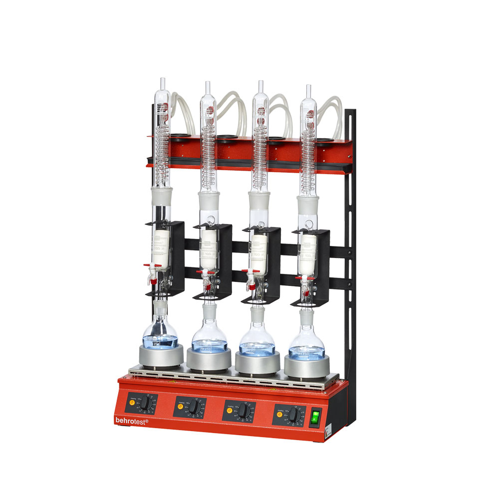 100 ml extraction - 250 ml round bottom flask/flat-bottomed flask  - Glass condenser/Titanium condenser - Compact system (4 samples) - R 104 S [B00218425]